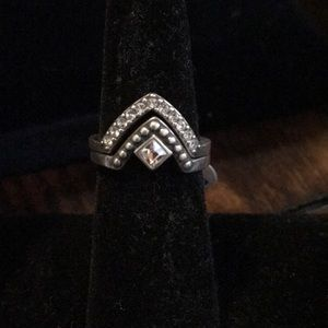 Silpada size 6 .925 sterling silver ring